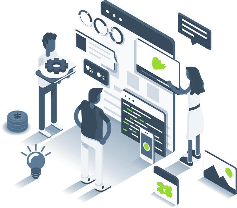 Illustration représentant le domaine du développement web
